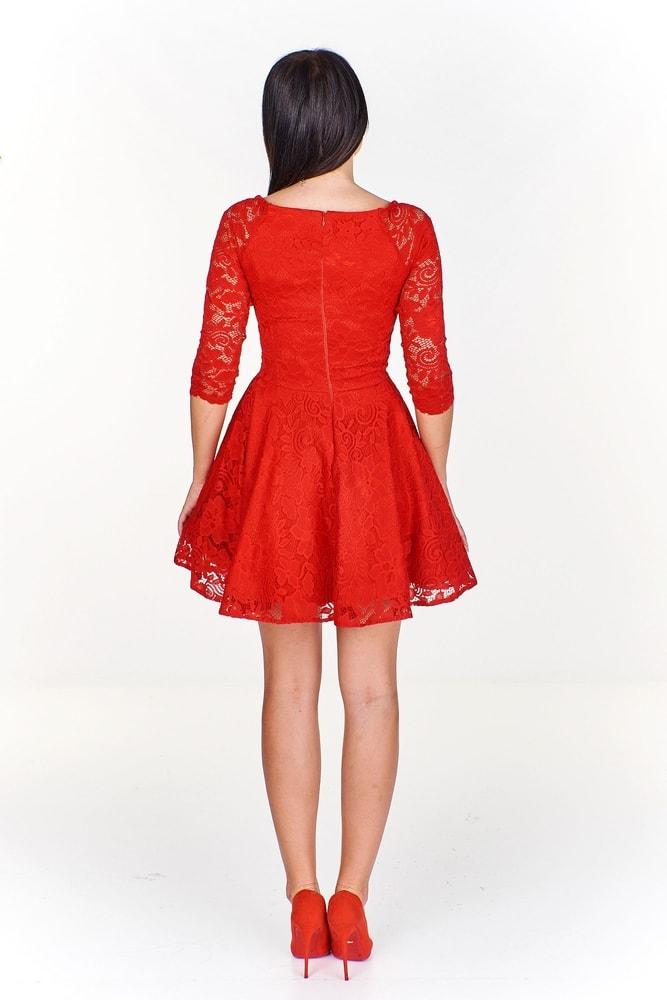 Společenské červené šaty - Ptakmoda - Večerní šaty a koktejlové šaty ... 807c56da07