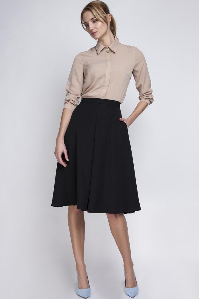 Dámská černá sukně Ptakmoda pt-su1065bl