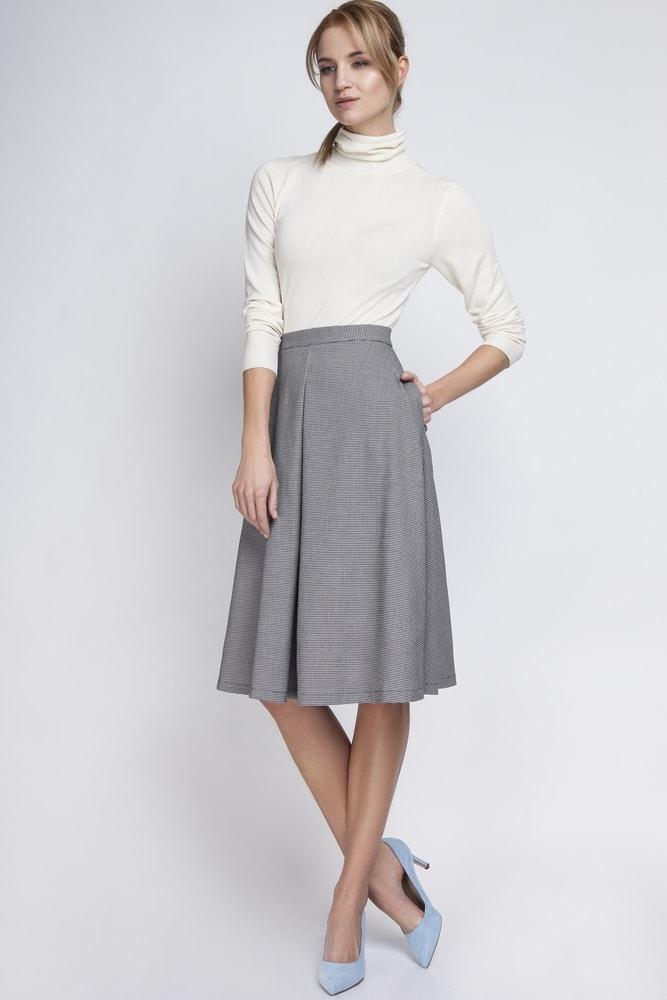 Kolová dámská sukně Ptakmoda pt-su1065bw