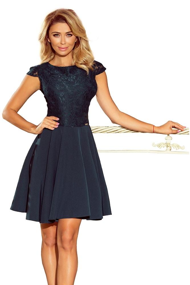 Tmavě zelené krajkové šaty - Numoco - Večerní šaty a koktejlové šaty ... cc174ffa7f0