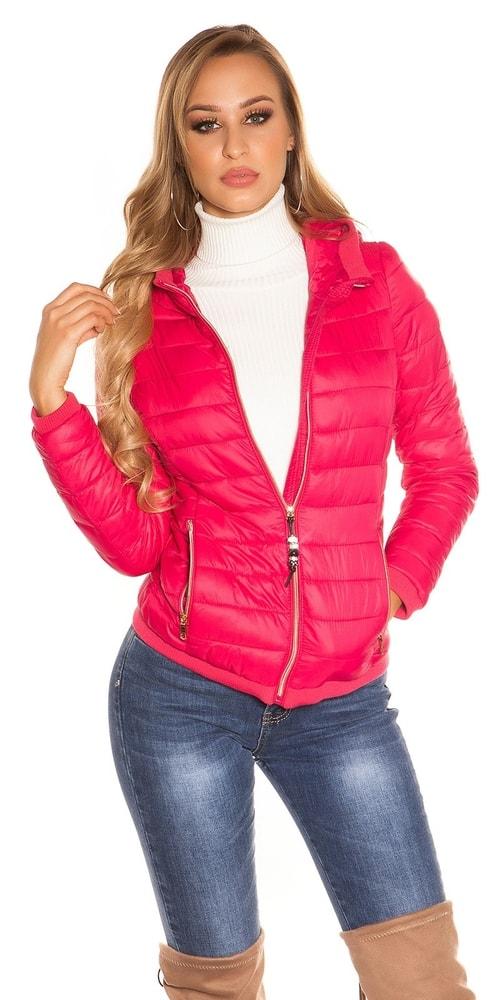 Jesenná bunda s kapucňou - L Koucla in-bu1016tpi