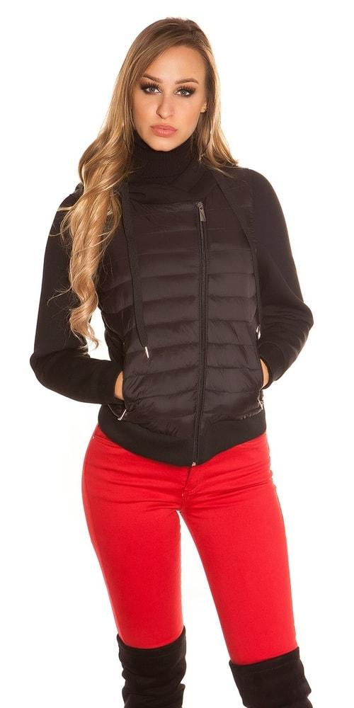Dámska bunda s kapucňou Koucla in-bu1015bl