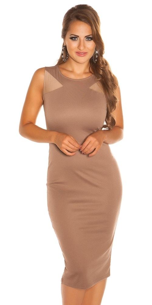 Dámske hnedé šaty - Koucla - Večerné šaty a koktejlové šaty - vasa ... c111280ba1c