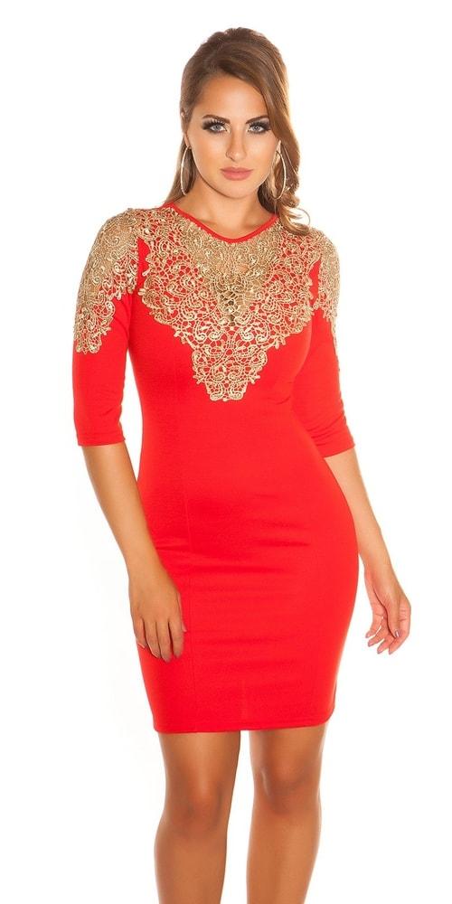 Večerné červené šaty - L Koucla in-sat1219re f12c155639c