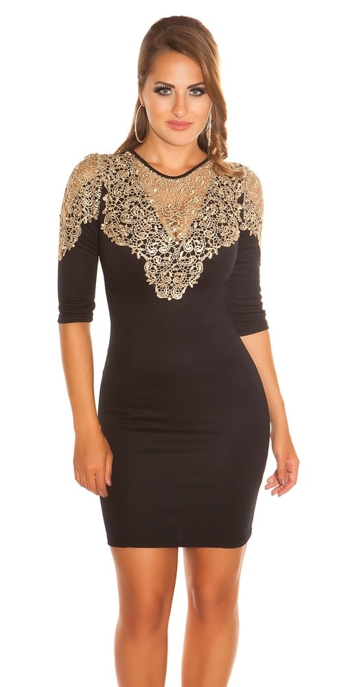 Puzdrové šaty čierne - Koucla - Večerné šaty a koktejlové šaty - vasa ... 6e128cd7e0f