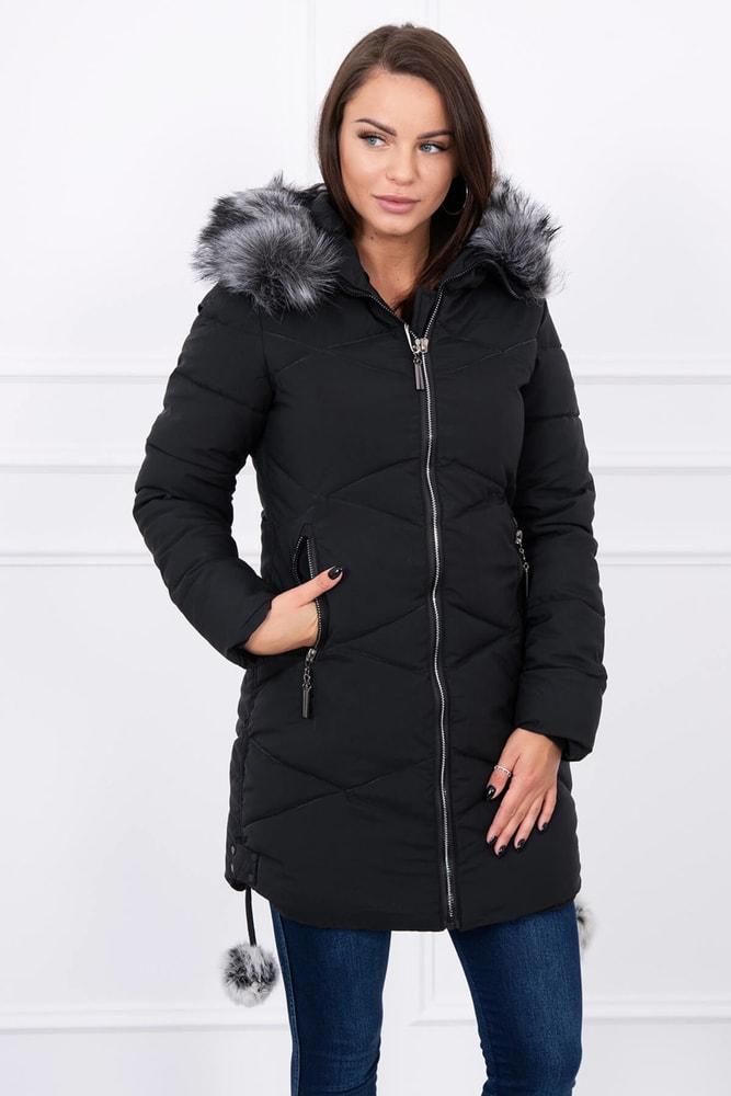 Dámska zimná bunda - XXL Kesi ks-bu8005bl