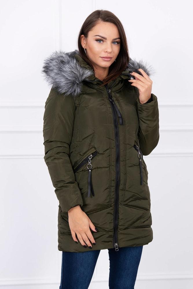 Dámska bunda s kapucňou - Kesi - Bundy dámske zimné - vasa-moda ... 06622bff74c