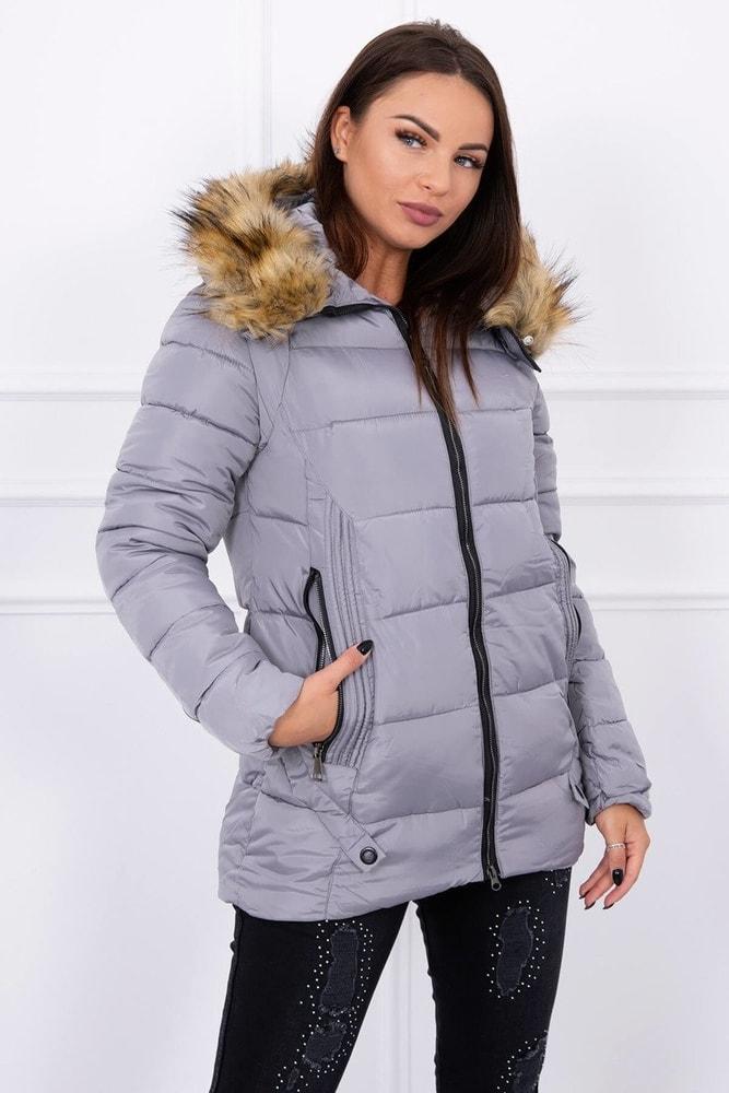 Dámska zimná bunda s kapucňou - Kesi - Bundy dámske zimné - vasa ... a7b9fbf7b3d