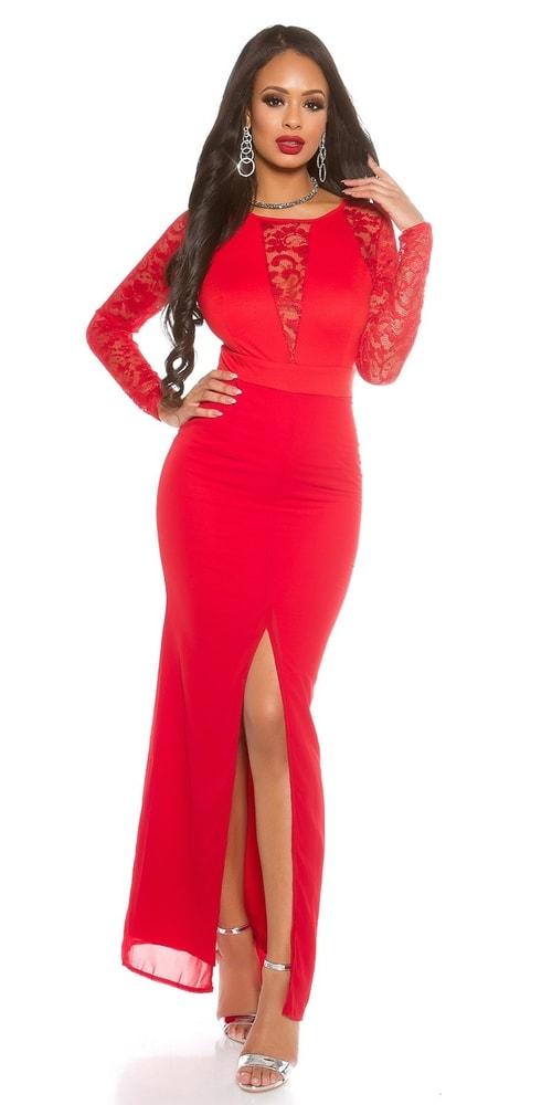 28bfed79a04 Dámské červené večerní šaty - II. jakost - Koucla - Výprodej ...