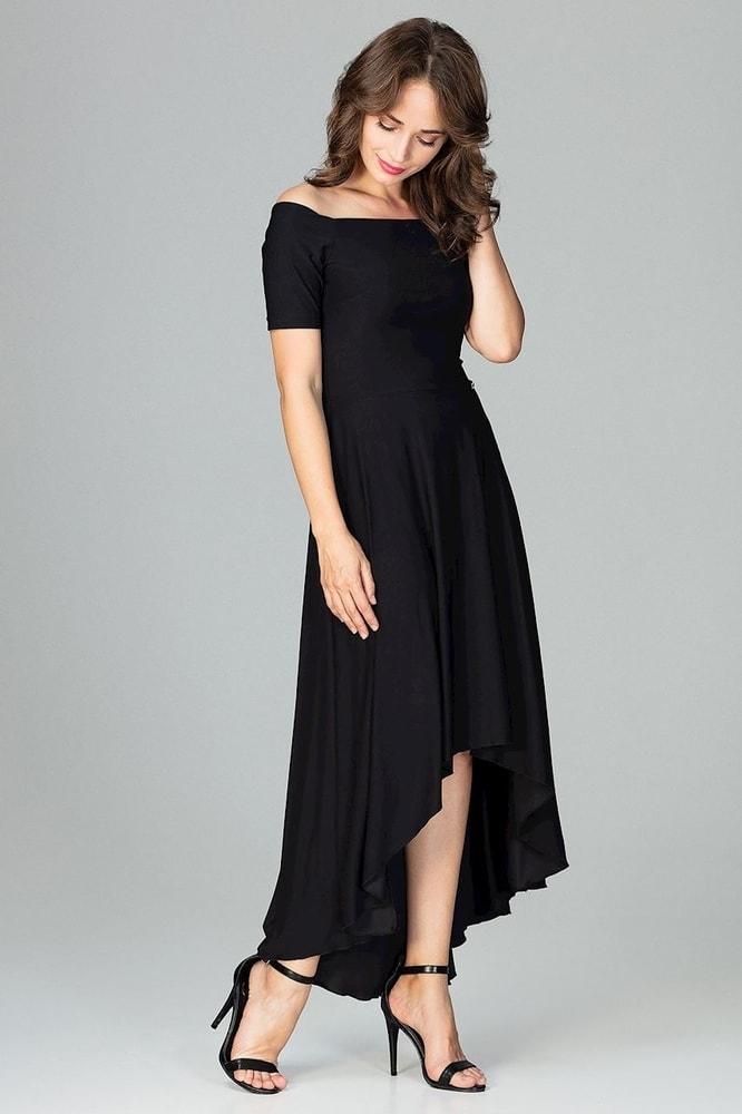 Čierne elegantné šaty - Ptakmoda - Dlhé spoločenské šaty - vasa ... 02dd727f460