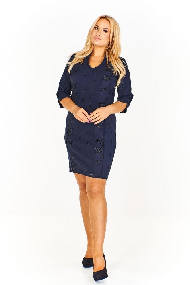 f3bee31bb47 Pouzdrové dámské šaty - Ptakmoda - Společenské šaty pro plnoštíhlé ...