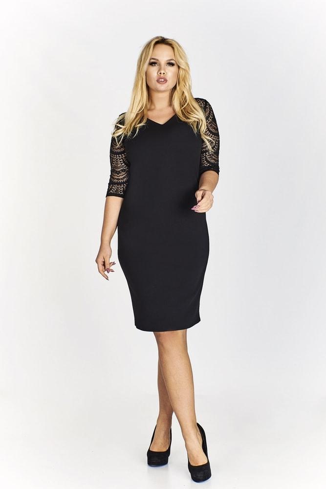 Čierne puzdrové šaty - Ptakmoda - Puzdrové šaty - vasa-moda.sk 67a16582234