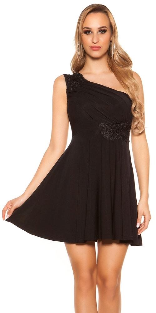 d44478e76f9 Čierne plesové šaty krátke - Koucla - Krátke plesové šaty - vasa-moda.sk