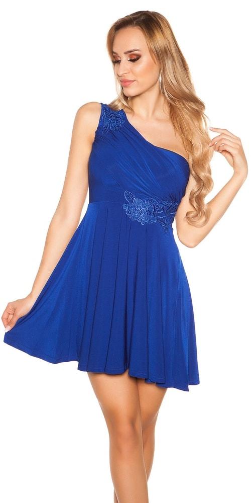 Krátké modré plesové šaty - Koucla - Krátké plesové šaty - i-moda.cz 07abae9981