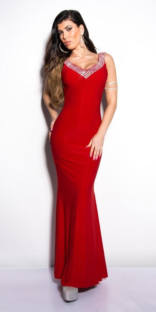 Červené plesové šaty - Koucla - Dlouhé plesové šaty - i-moda.cz 1c3136032e0
