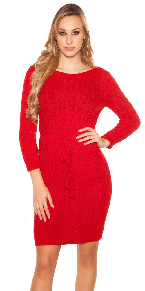 Pletené dámske šaty - Koucla - Úpletové šaty - vasa-moda.sk 15457c0e0a
