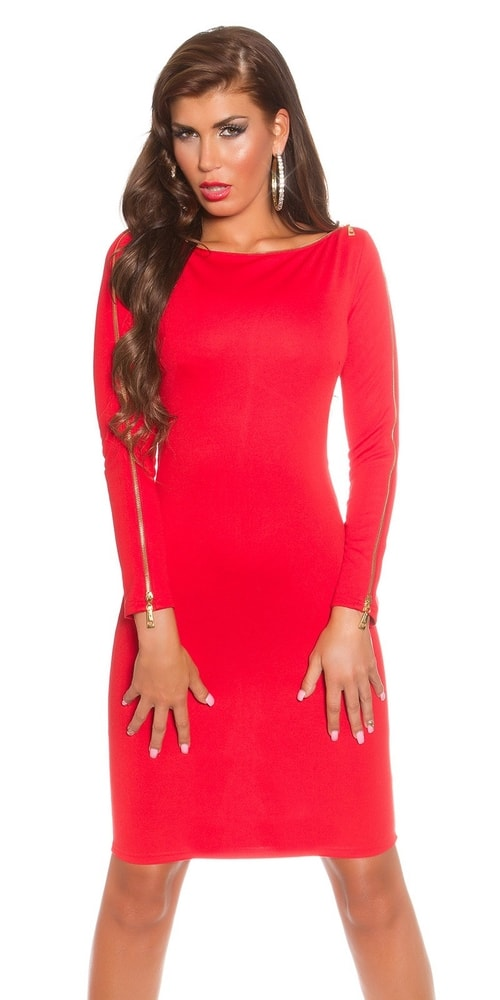 Červené dámske šaty - Koucla - Puzdrové šaty - vasa-moda.sk d5a7b0415c5