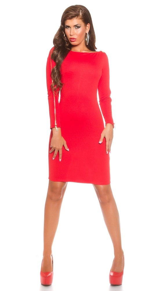 Červené dámské šaty - Koucla - Pouzdrové šaty - i-moda.cz 4b854c44d3