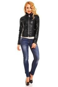 Štýlová koženková bunda - Voyelles - Bundy dámske koženkové ...