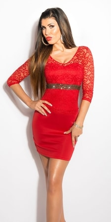 Červené dámske šaty - Koucla - Večerné šaty a koktejlové šaty - vasa ... 7c71be637e7